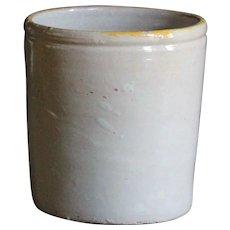 Antique Italian Confit Pot - White-Glazed Earthenware Jar