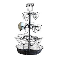 19th Century French Wirework Egg Stand - Antique Wire Egg Basket