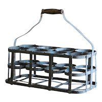 Antique French Wine Bottle Carrier