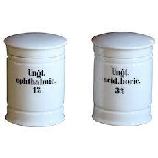 Antique German Porcelain Apothecary Chemist Jars