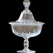 Antique Crystal Glass Bonbonniere - Cut Glass Bonbon Jar #3