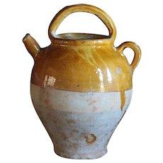 Antique French Terracotta Cruche MEDIUM - 19th Century Confit Water Pot -Jug