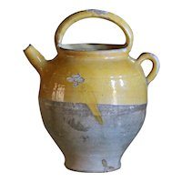Antique French Terracotta Cruche - SMALL / MEDIUM 19th Century Confit Water Pot -Jug