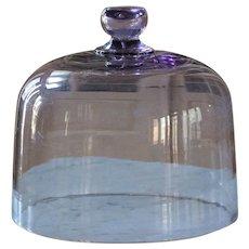 Antique Purple Glass Cloche - Food / Cake Dome #1