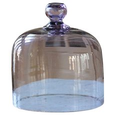 Antique Purple Glass Cloche - Food / Cake Dome #2