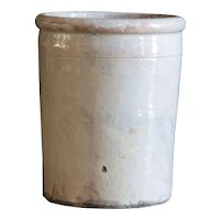 Antique Puglia Italian Terracotta Glazed Confit Preserve Pot
