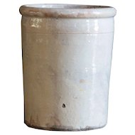 Antique Puglia Italian Terracotta Glazed Confit Preserve Pot