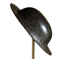 Antique English Miner's Leather Helmet Hat