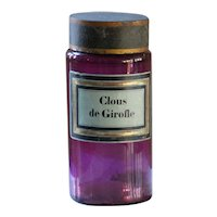 Antique French Purple Glass Apothecary Jar - Clous de Girofle
