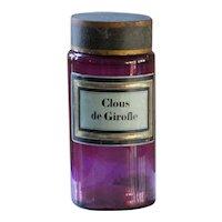 Antique French Purple Glass Apothecary Jar - Clous de Girofle