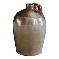 Antique English Salt-Glazed Stoneware Flagon