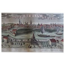 Antique Berlin Map Lithograph PRINT
