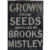 Antique English Wooden SEED Store Trade Sign