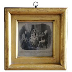"Antique English Engraved Print - R. Ackermann ""Merry Memoranda"""