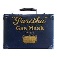 "Vintage WII English ""Puretha"" Gas Mask Case"
