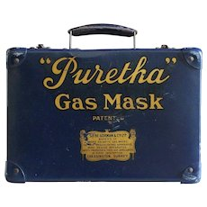 "Vintage WII English ""Puretha"" Gas Mask Case"