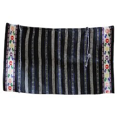 Antique Balkan Textile Woven Wool Apron #1