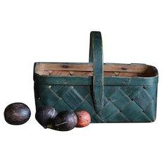 Antique Swedish Splint Woven Basket