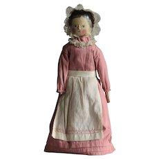19th Century Wooden Peg Doll