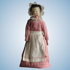 19th Century Wooden Peg Doll