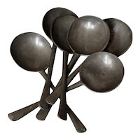 18th Century European Pewter Spoons