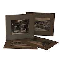 1900s English Lipton Tea Shop Front and Interior Cabinet Photographs