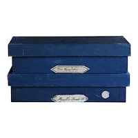 Vintage English Haberdashery Shop Wood Storage Boxes / Crates