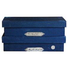 Vintage English Haberdashery Shop Wood Storage Boxes / Crates