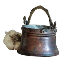 TINY Antique Balkan Ottoman Copper Cauldron