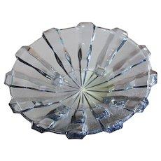 Stolzle Art Deco Amethyst Glass Centerpiece - Fruit Platter / Bowl / Tazza