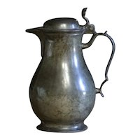 Antique European Pewter Spouted Flagon