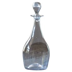 Antique Glass Wine Decanter - 19th Century Glass Carafe