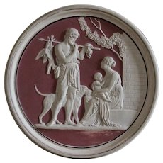 19th Century Royal Copenhagen Neoclassical Wall Plaque - Bisque Wall Relief