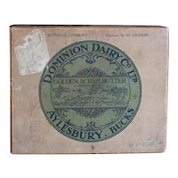 English Advertising & Railway Shipping Box - Dairy Farm Butter