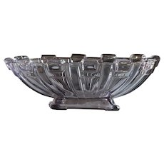 Stolzle Art Deco Amethyst Glass Oval Fruit Bowl - Centerpiece / Tazza