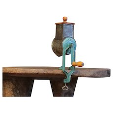 Vintage Nut Grater - Cast Iron Tin Grinder / Mill