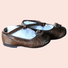 Antique SMALL Child's Leather Shoes - British Handmade Children's Shoe