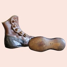 19th Century Antique French Child's Leather Shoes - Handmade Baby Boots