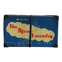 Vintage English Laundry Service Delivery Box - Mid 20th Century