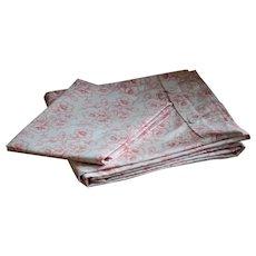 Vintage 1920s German Floral Print Duvet Cover & Pillow Case Set #2