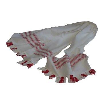 Vintage Serbian Ceremonial Wedding / Dowry Linen Cloth Towel - Peškir #2