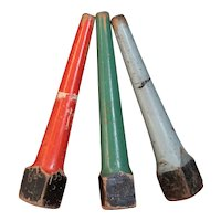 Salvaged Retro English Wooden Posts / Markers - Vintage School Playground Games