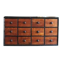 19th Century English Apothecary Chest of Drawers - Antique Chemist / Pharmacy Drawers