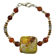 Muse Artisan Bracelet: Jasper, Cat's Eye, Glass and Agate