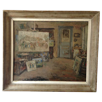 Superb. Oil Painting by Karel Heymans 1899-1974