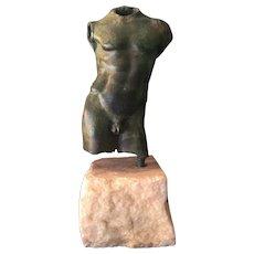 Authentic Classical Male nude Torso sculpture