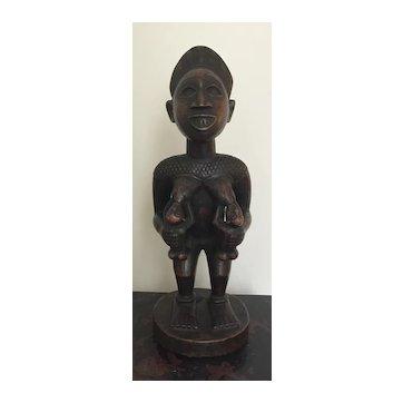 African Kongo-Yombe maternity figure