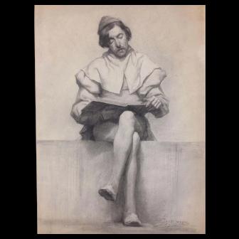 Beautiful drawing by Jos Aerts (Belgium 1874-1901)