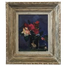 """Flowers in a vase"" still life by Belgian artist Stan van Offel"