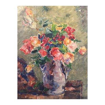 """Henry Bremond (Paris 1875) """"Flower Stillfe"""""""
